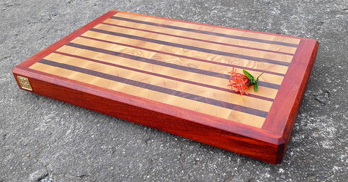 Ash and Padauk Wood Butcher Block