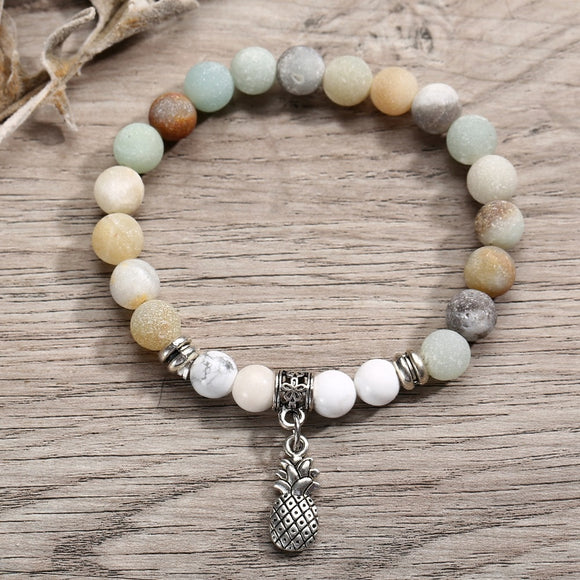 Light Pastel Stones with Pineapple Charm