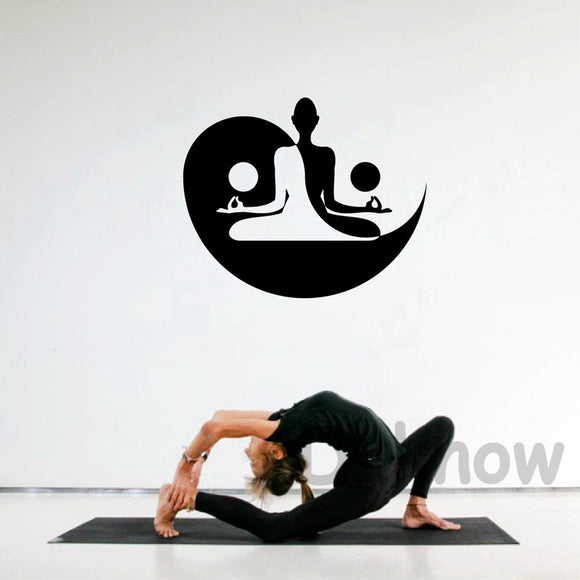 Black Vinyl Yin and Yang Wall Decal