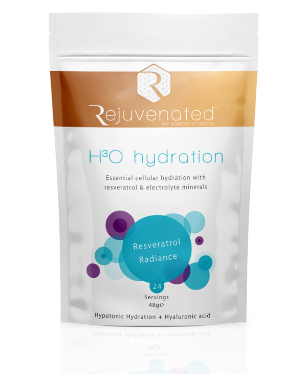 Rejuvenated H3O Hydration. Forty Eight gram bag. Twenty Four Servings.