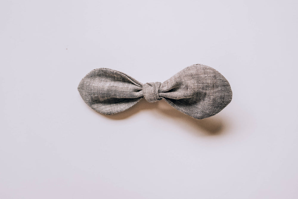 """Cloud Linen"" Hair Bow"