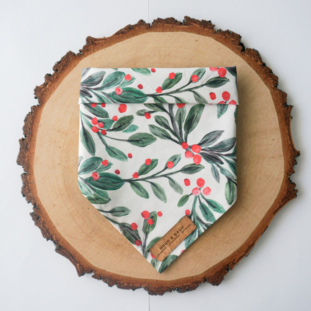 """Christmas Foliage"" Pet Bandana"