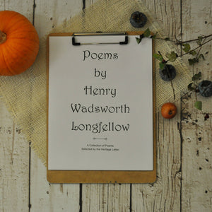 Henry Wadsworth Longfellow Printables