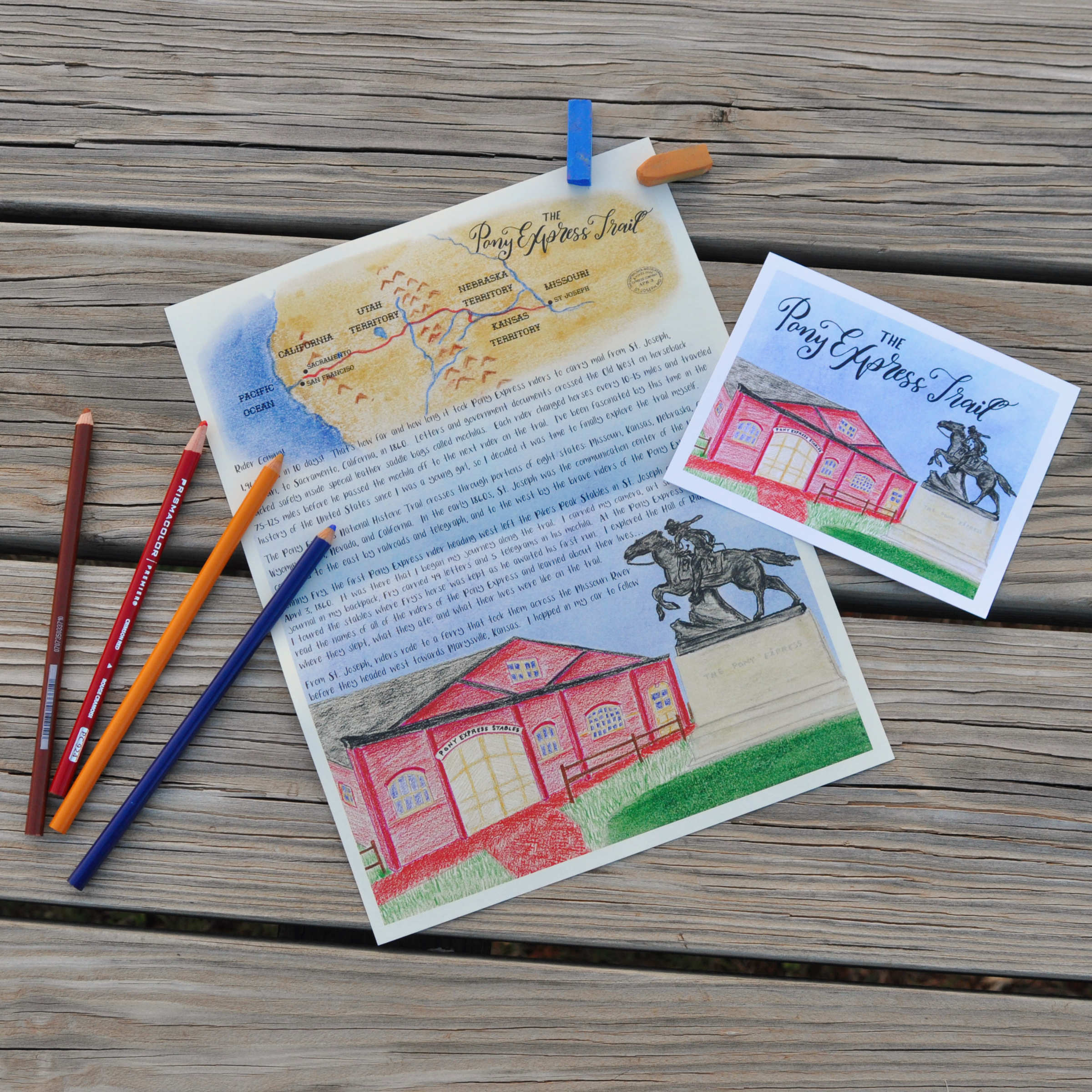 Pony Express Trail Letter: Digital Download