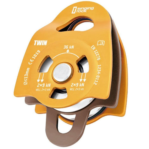 Singing Rock Pulley Twin Orange - VerxAustralia