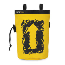 Load image into Gallery viewer, Singing Rock Chalk Bag Large (ARROW) yellow