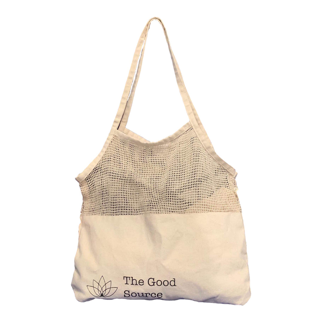 Mix Mesh Cotton Tote