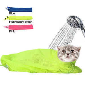 New Mesh Cat Grooming Bathing Bag No Scratching Biting Restraint for Bathing Nail Trimming Injecting Examing - Kit-Cat Co.