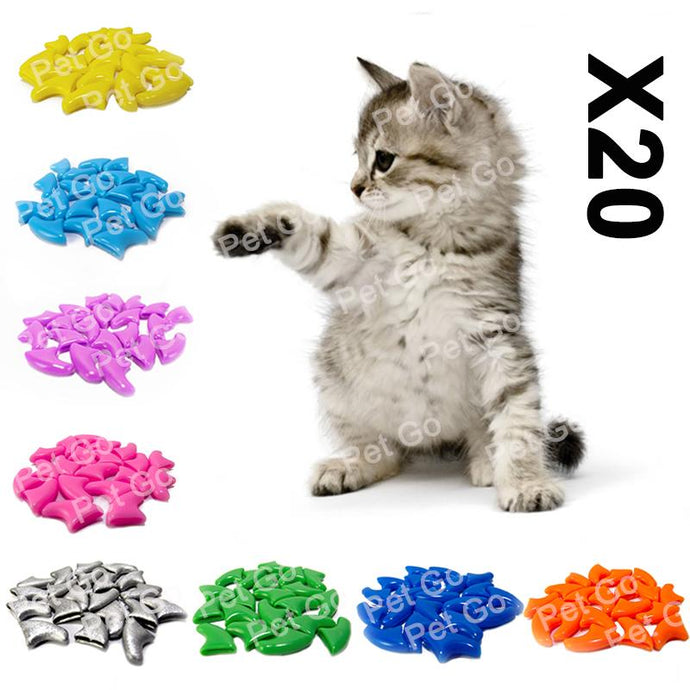 Soft Cat Nail Caps (20-Pack!) - Kit-Cat Co.