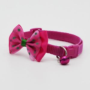 Cute Pets Adjustable Polyester Dog Collars Puppy Pet Collars with Bowknot and Bells Necklace Collar For Dogs Cat collars perro - Kit-Cat Co.