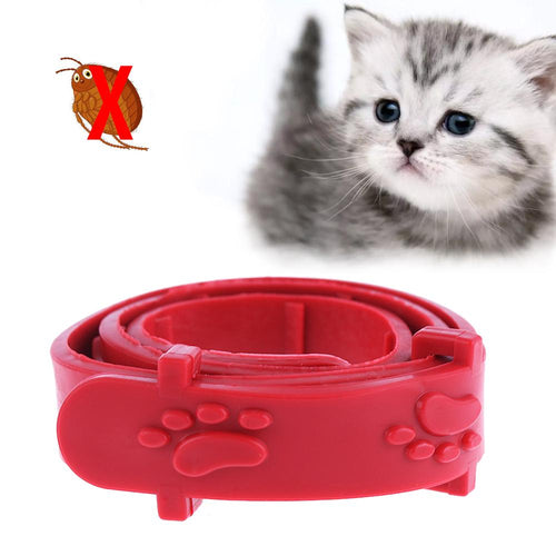Red Adjustable Dog Cat Rabbit Neck Strap Anti Flea Mite Acari Tick Remedy Pet Collar Pet Supplies Summer - Kit-Cat Co.