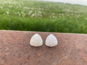 16mm Opal White Druzy Triangle