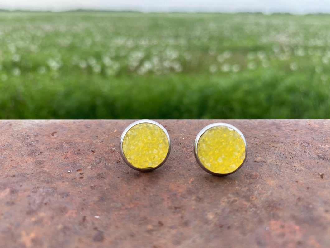 12mm Milky Sunflower Yellow Deuzy