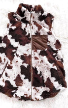 Load image into Gallery viewer, Cow Print Sherpa Vest