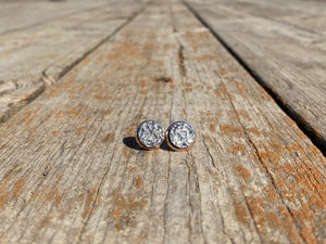 10mm Textured Silver Stud