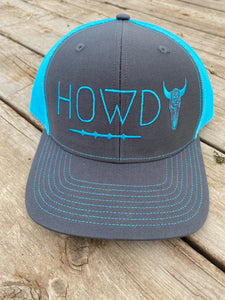 Howdy Hat- Turquoise Snap Back