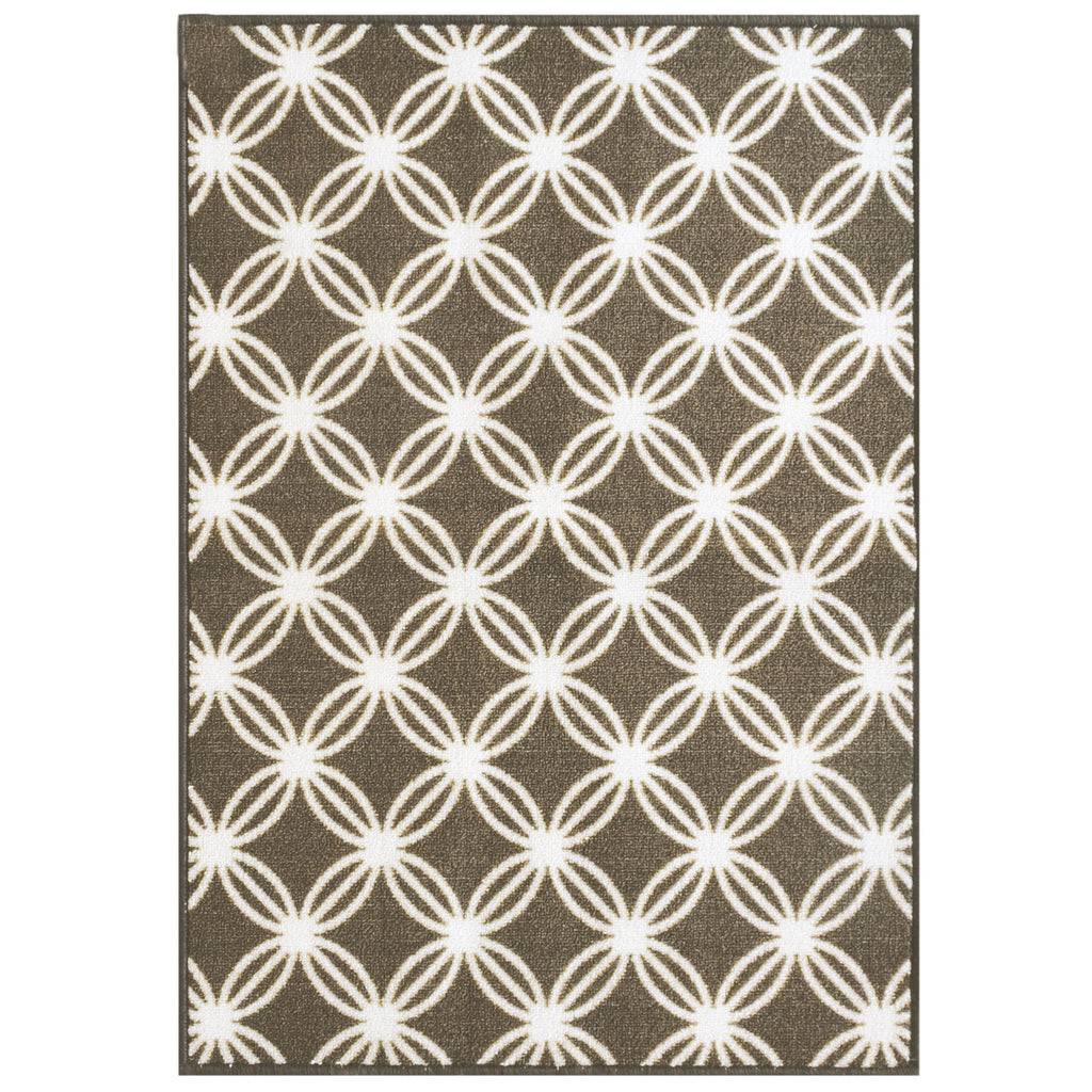 Decorative Area Rug and Carpet Runner for Stairs and Hallway, Trellis, Brown iCustomRug