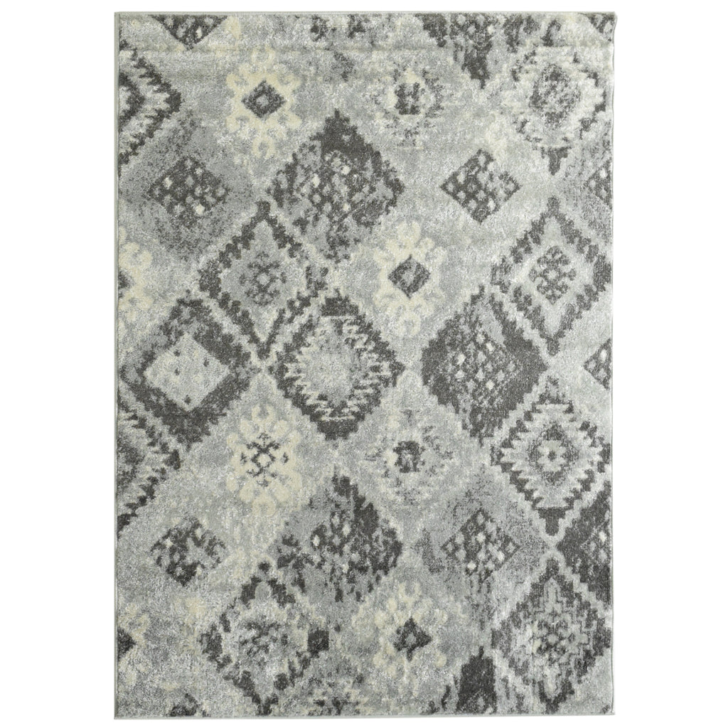 Aztec Neutral Tone Area Rug 4' x 6'