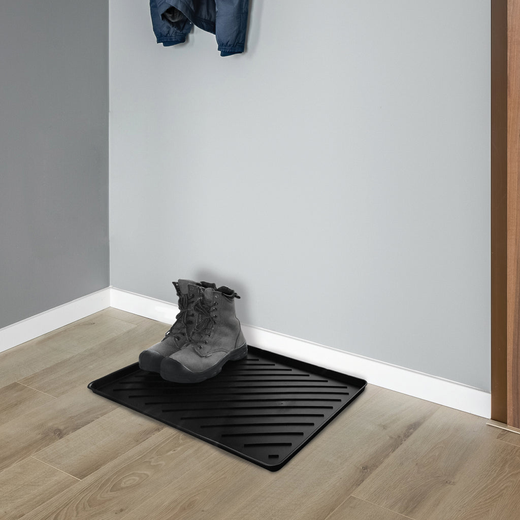 Boot Trays, Sturdy and Practical, Protects from Dirt and Moisture, 4 Styles and Sizes. (Black)