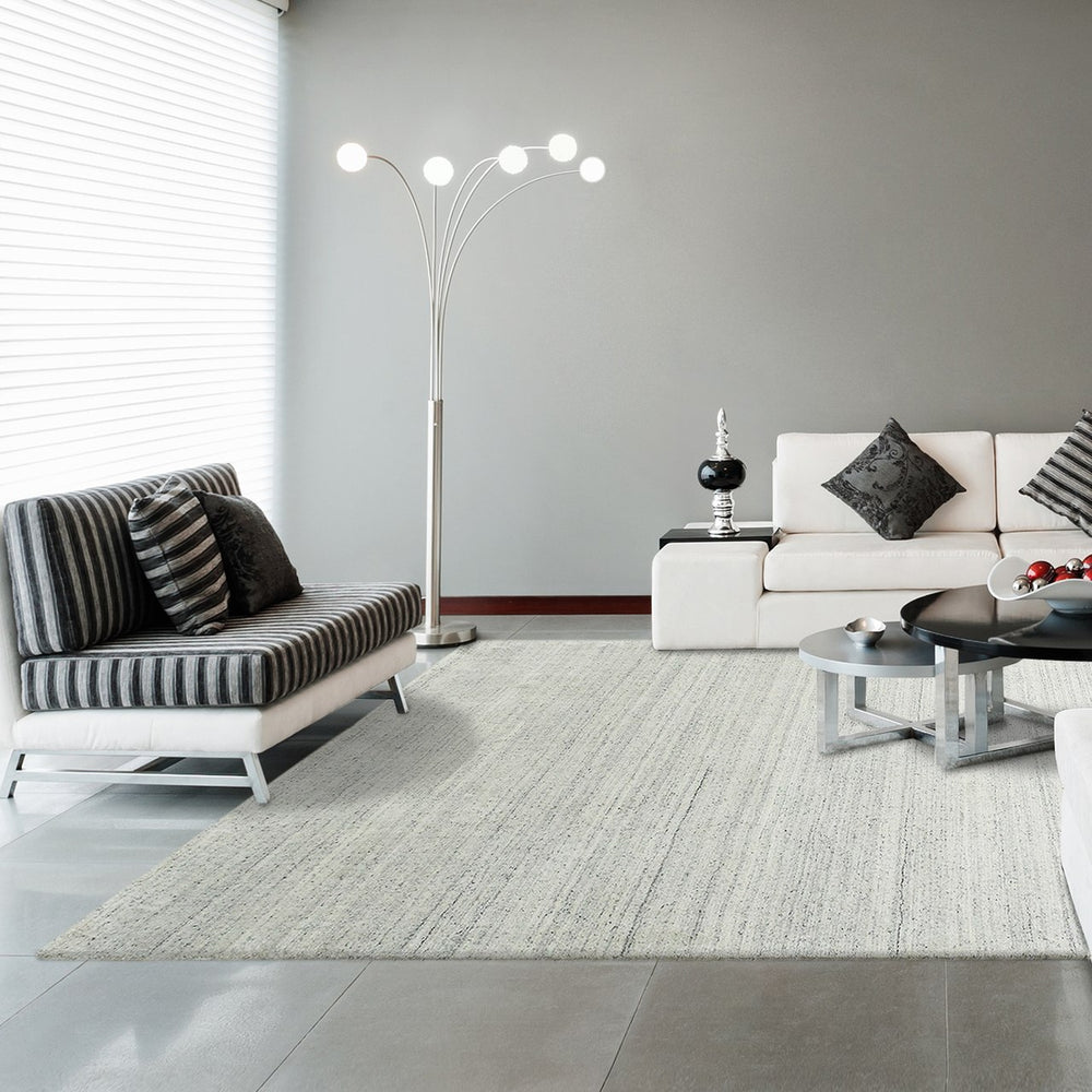 Boreal Stylish Modern Area Rug Cream