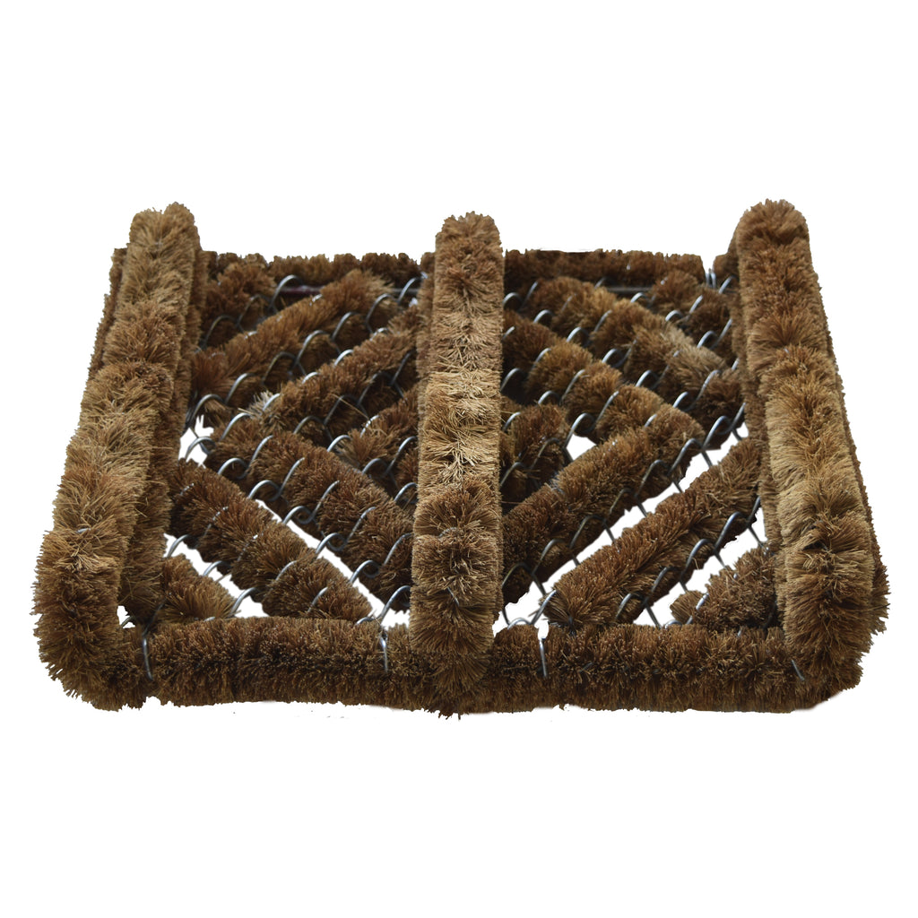 Shoe Scraper Brush, Keep Your Boots Clean, Coco & Metal Wire. Great for outside your door.