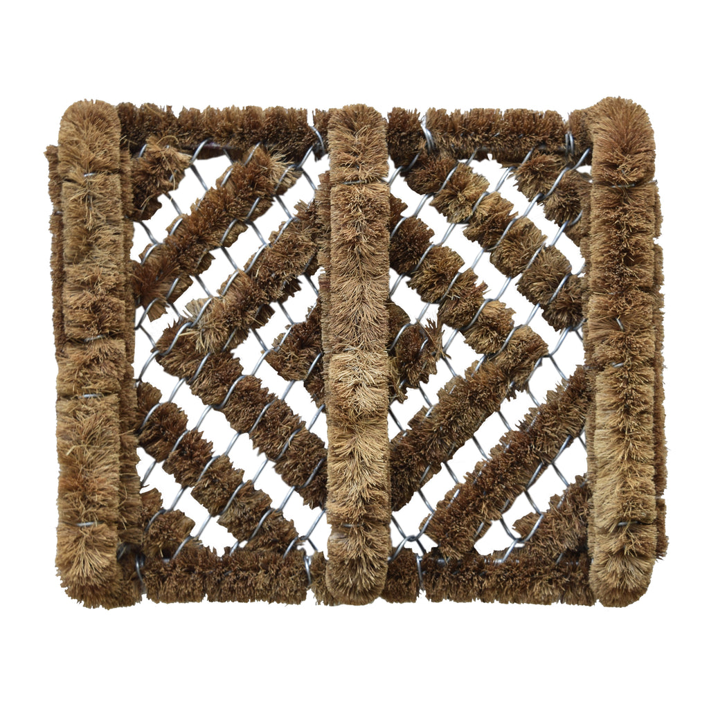 Shoe Scraper Brush, Keep Your Boots Clean, Coco & Metal Wire. Great for outside your door. iCustomRug