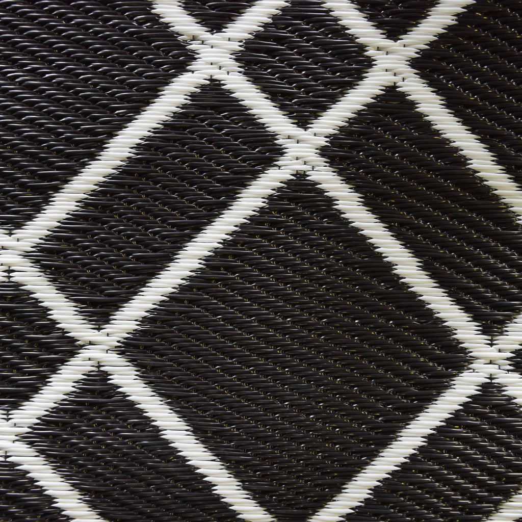 Reversible Outdoor Rug Geo Lattice Black
