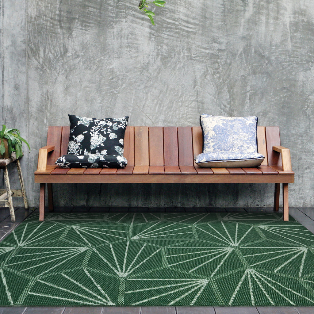 Reversible Outdoor Rug 	Atlantica Green