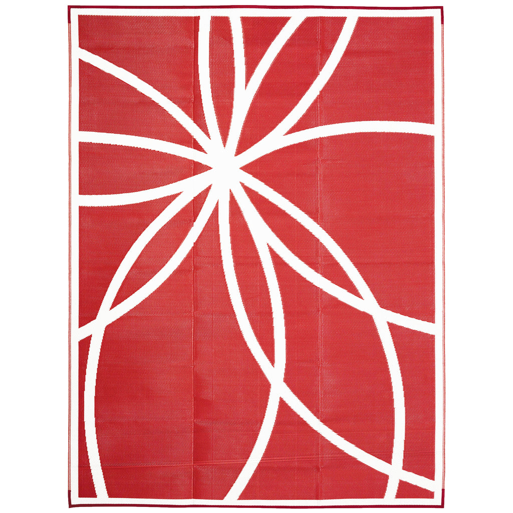 Reversible Outdoor Rug Maracaibo Red