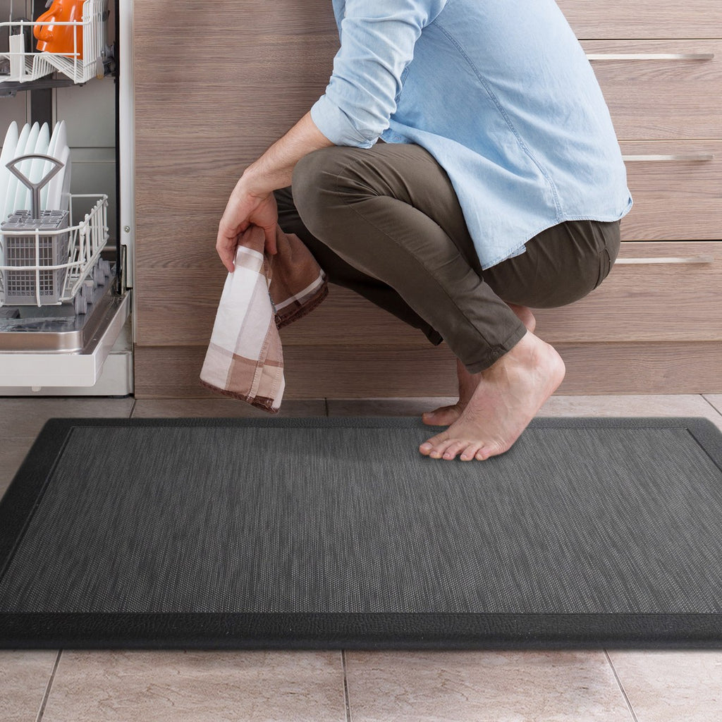 Anti Fatigue Memory Foam Mat Charcoal
