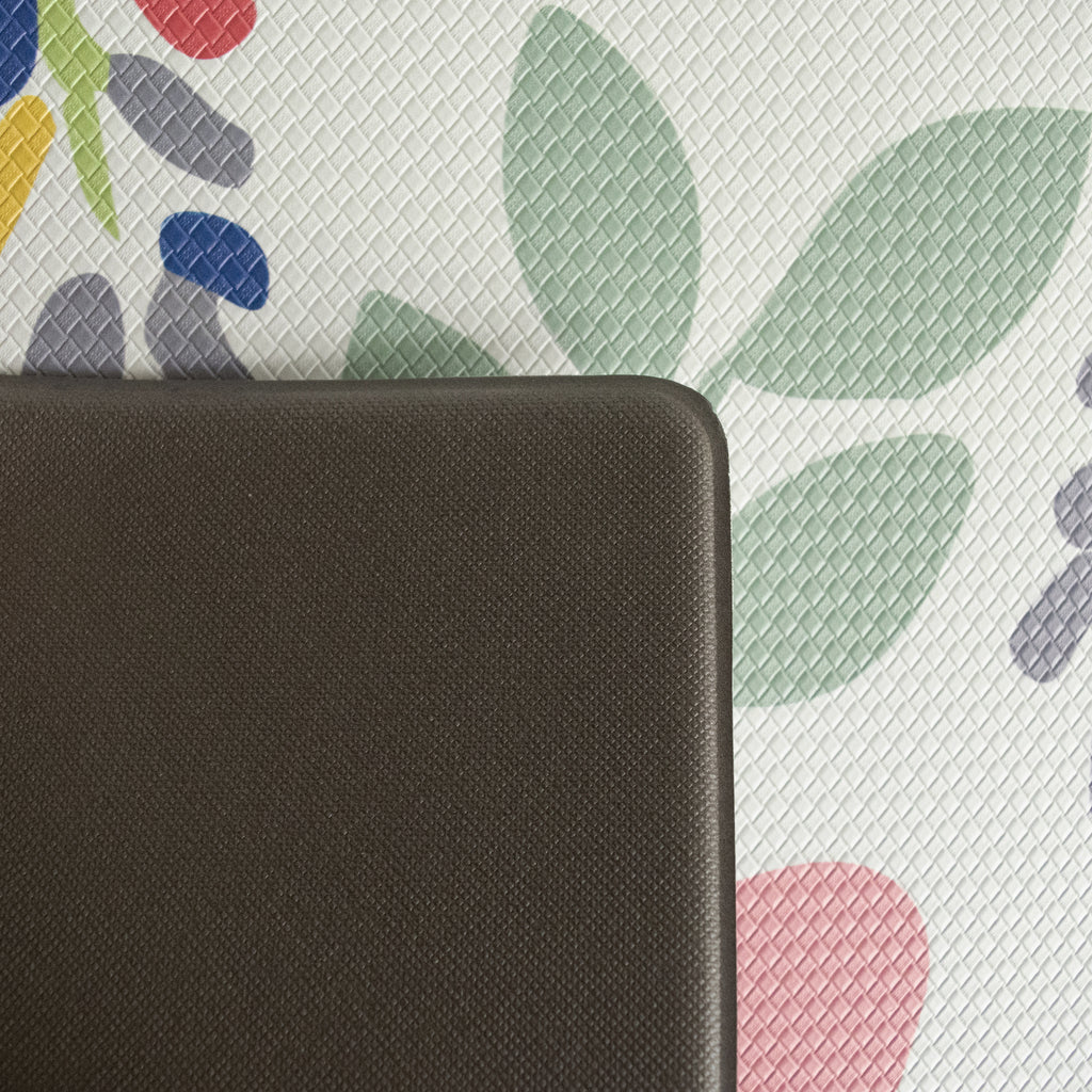 "Printed, Ergonomic, Anti Fatigue Mat. Colorful Memory Foam Comfort Mat Great for Kitchen, Bathroom and Workstation. (39"" x 20"" x 0.75"" in Summer Floral)."