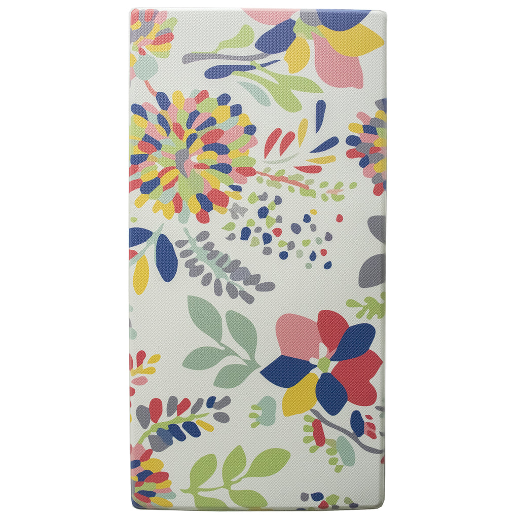 "Printed, Ergonomic, Anti Fatigue Mat. Colorful Memory Foam Comfort Mat Great for Kitchen, Bathroom and Workstation. (39"" x 20"" x 0.75"" in Summer Floral). iCustomRug"