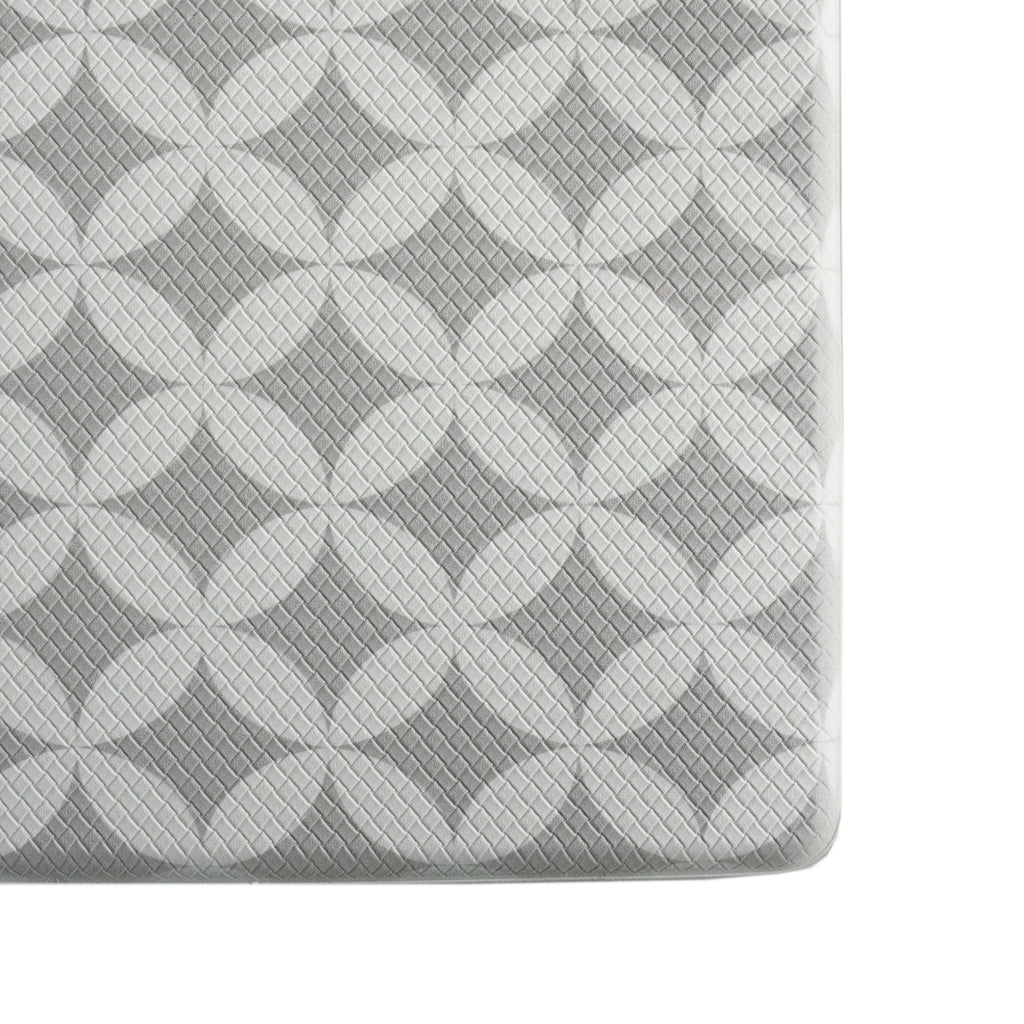 "Printed, Ergonomic, Anti Fatigue Mat. Colorful Memory Foam Comfort Mat Great for Kitchen, Bathroom and Workstation. (39"" x 20"" x 0.75"" in Florence Grey)."