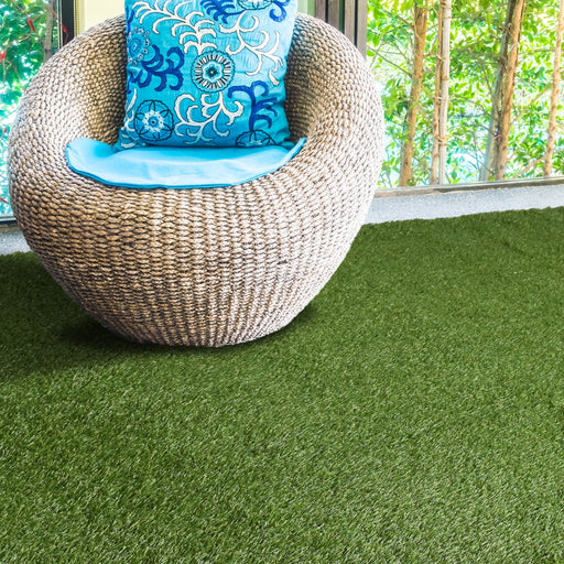 DELUXE Indoor/Outdoor Artificial Fake Grass Area Rug