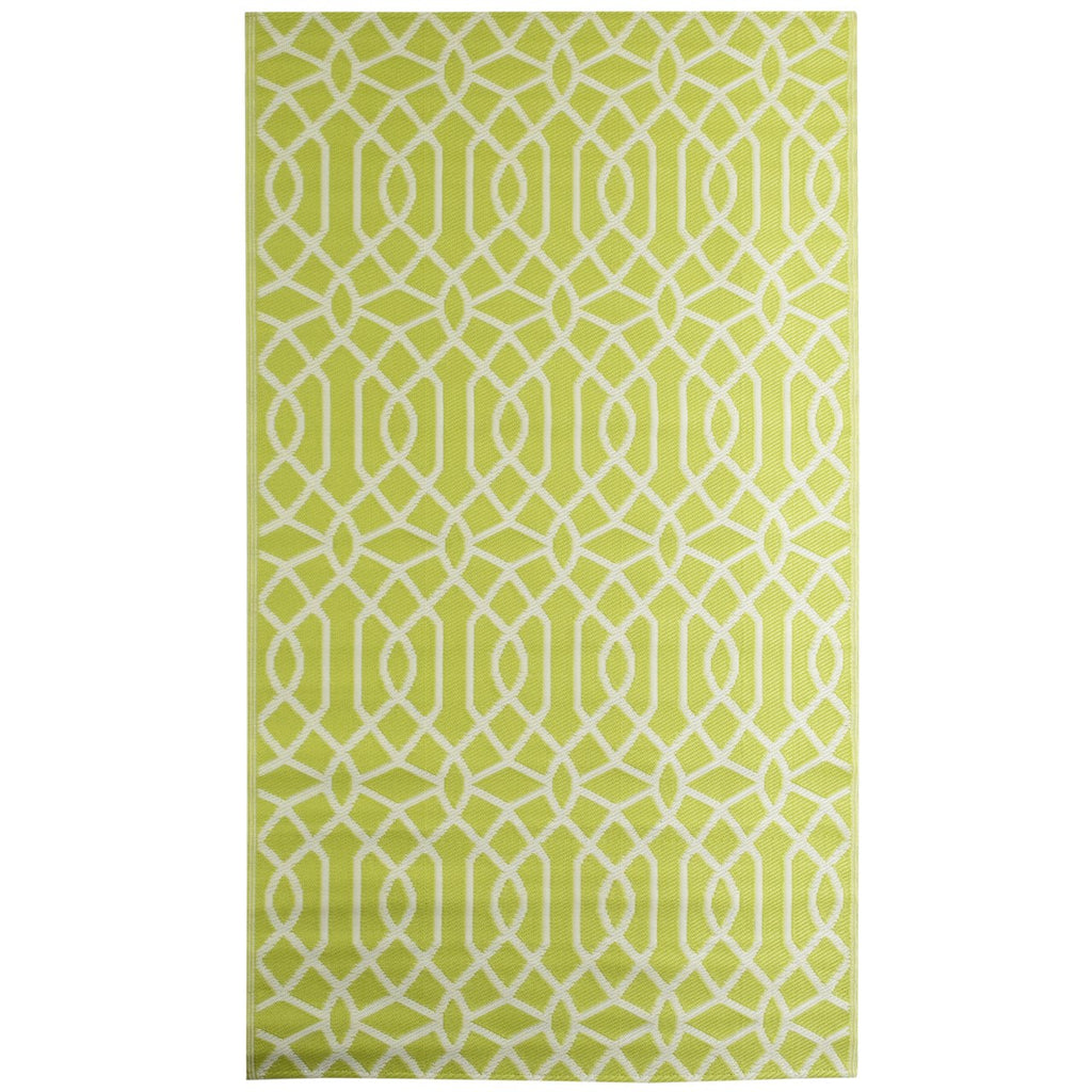 Reversible Outdoor Rug Geo Classic Green iCustomRug