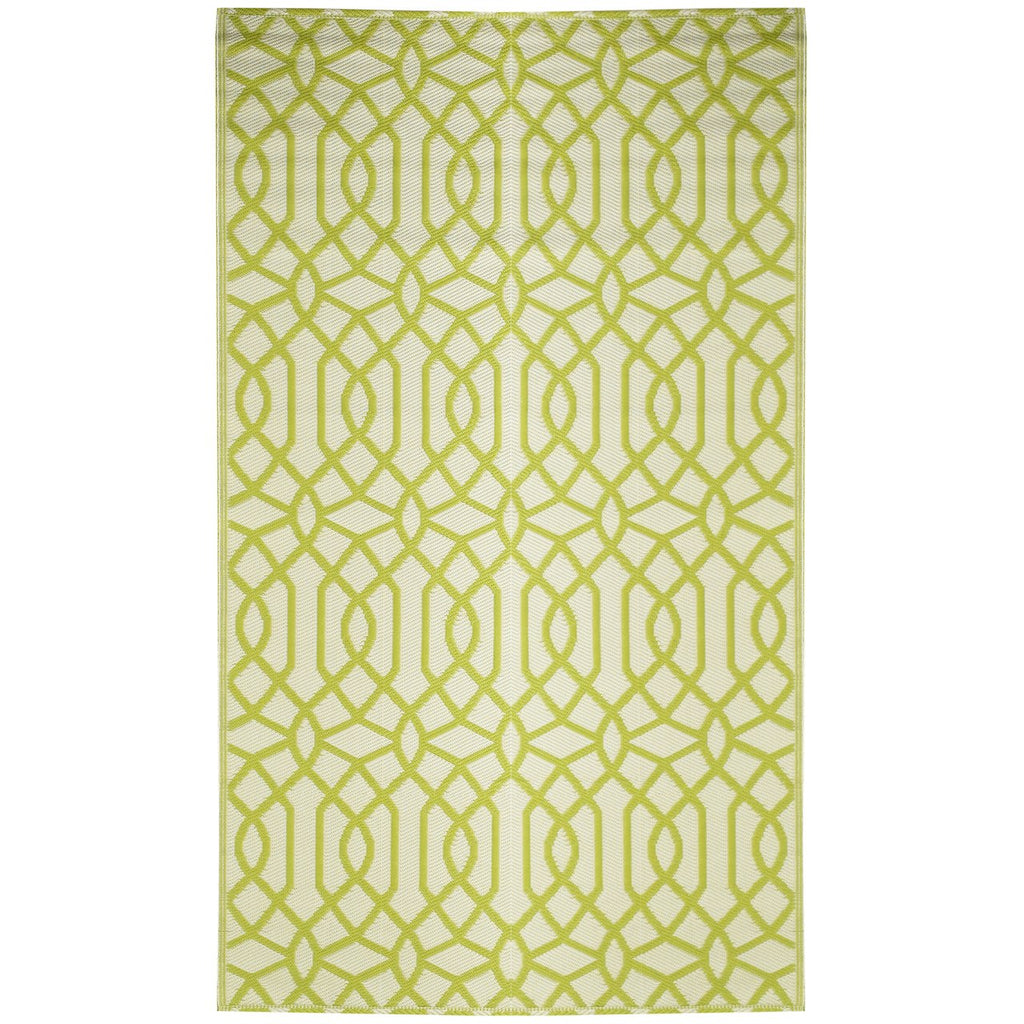 Reversible Outdoor Rug Geo Classic Green