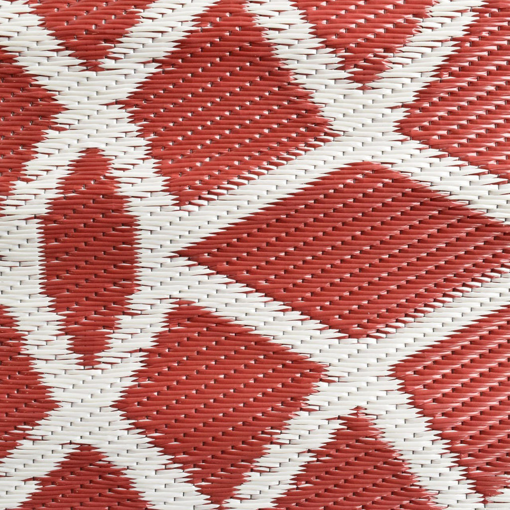 Reversible Outdoor Rug Geo Classic Red
