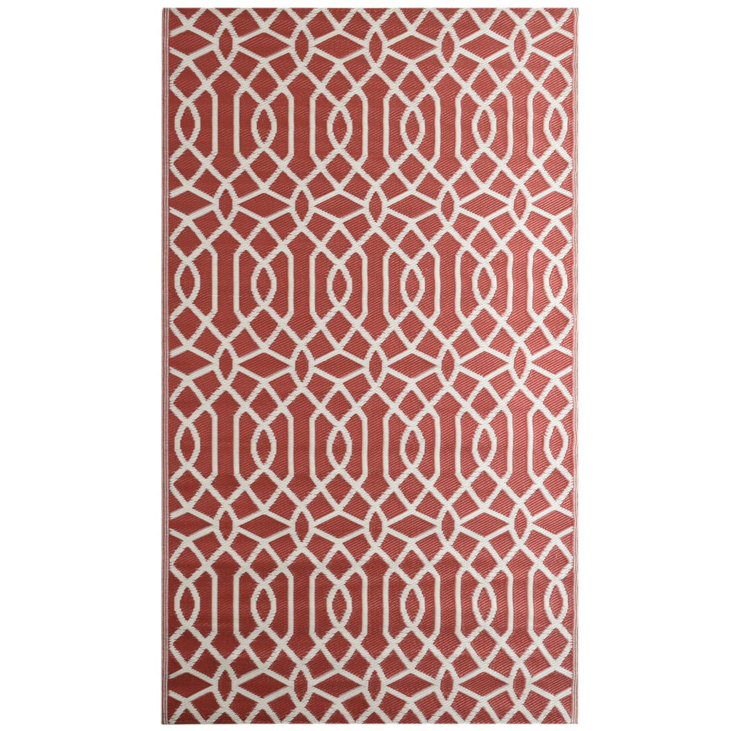 Reversible Outdoor Rug Geo Classic Red iCustomRug