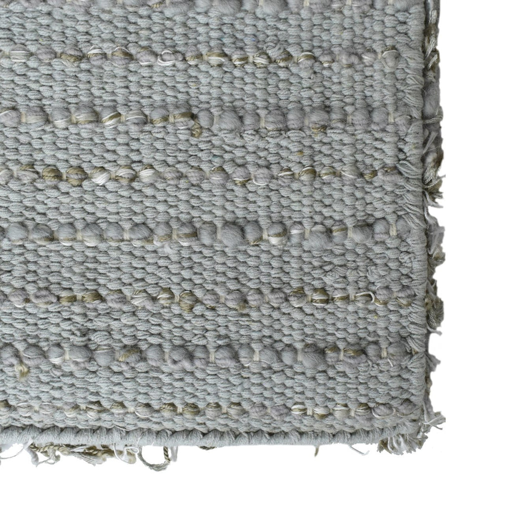 Laylah Super Dense Wool Shag Area Rug Grey