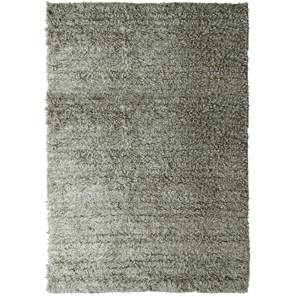 Laylah Super Dense Wool Shag Area Rug Grey iCustomRug