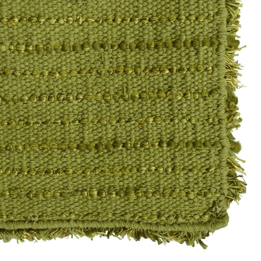 Laylah Super Dense Wool Shag Area Rug Lime Green