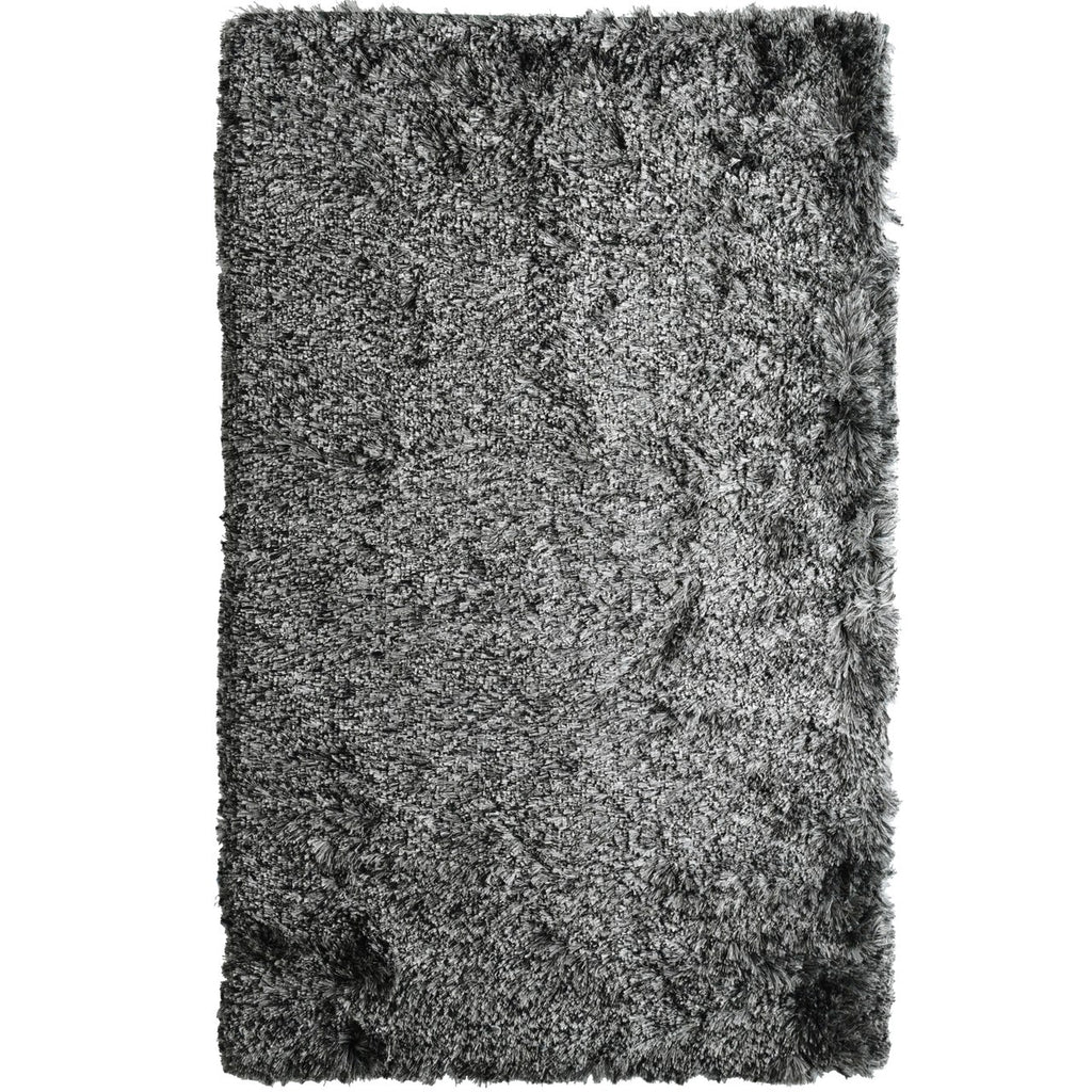 Paris Shag Area Rug Black & White iCustomRug