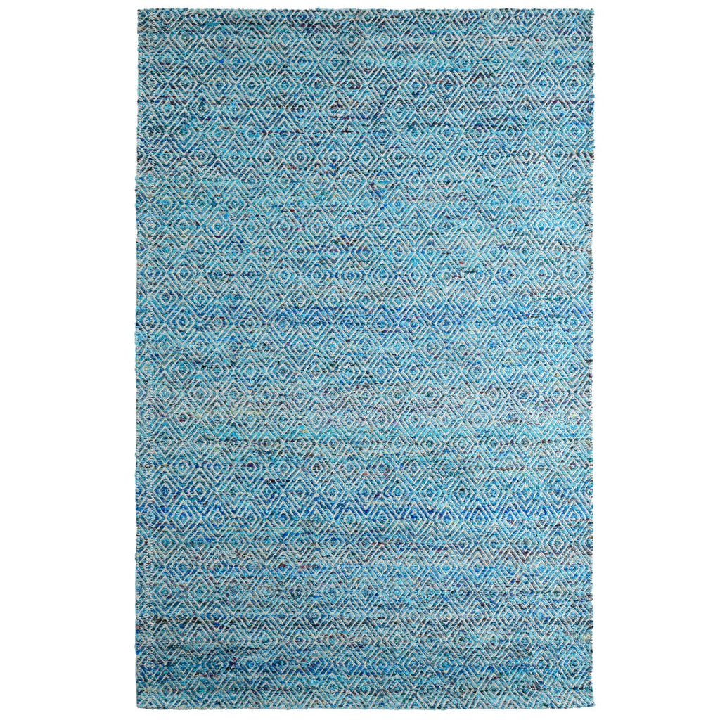 Maeva Stylish Diamond Pattern Area Rug Aqua Blue iCustomRug