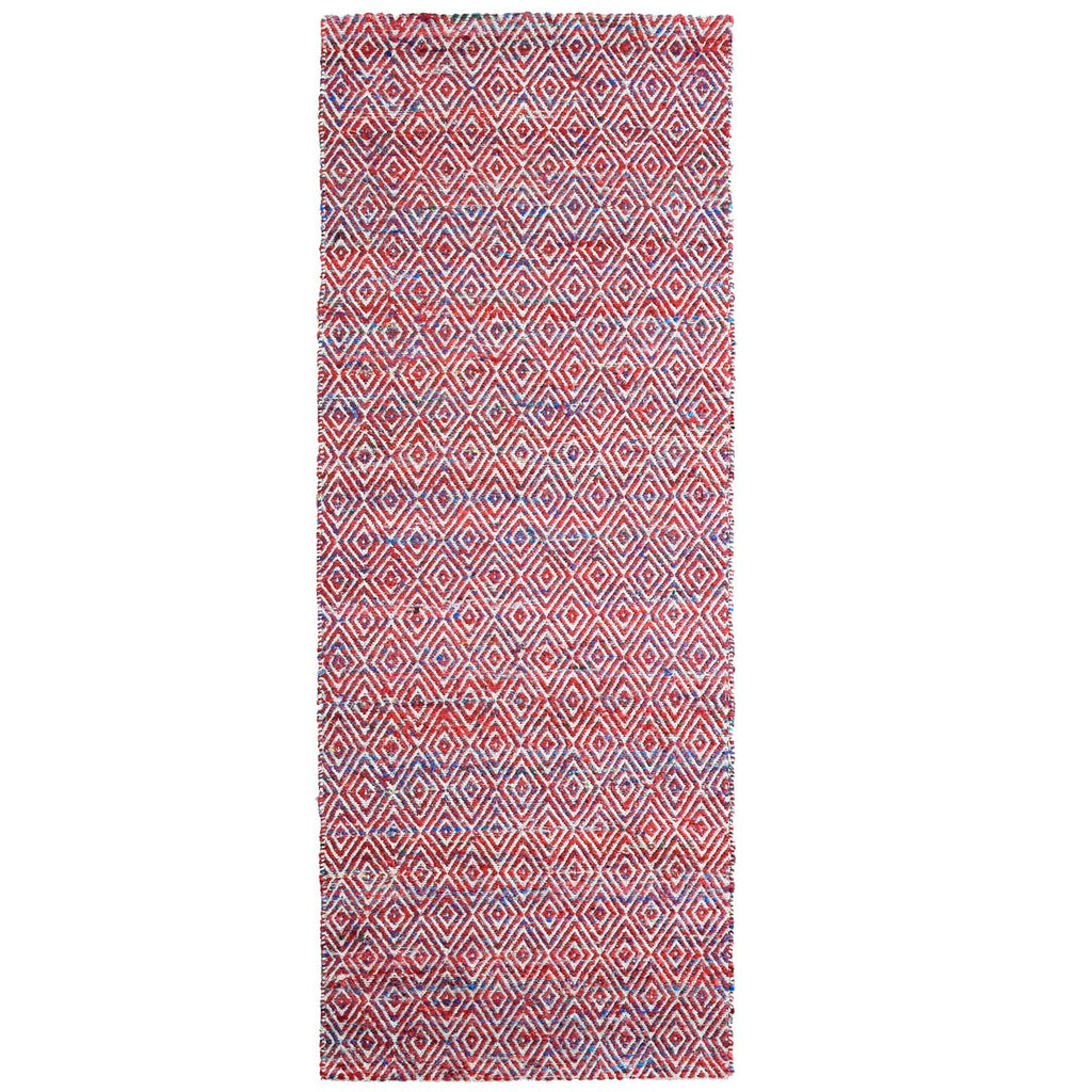 Maeva Stylish Diamond Pattern Area Rug Red