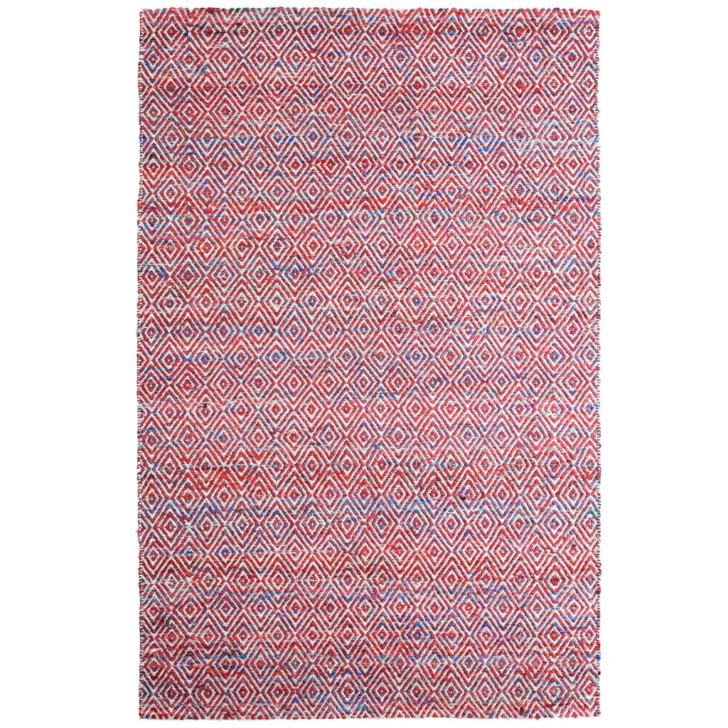 Maeva Stylish Diamond Pattern Area Rug Red iCustomRug