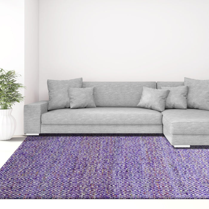 Maeva Stylish Diamond Pattern Area Rug Grape Purple