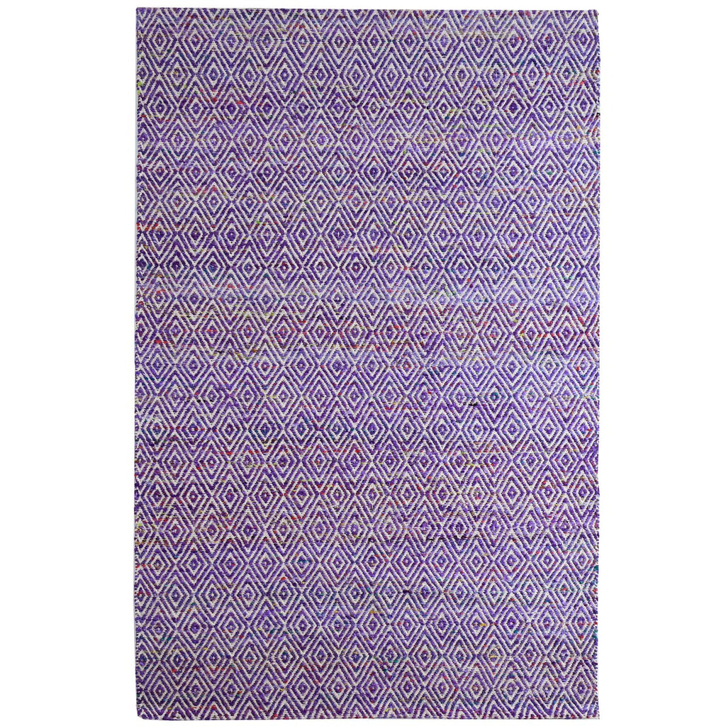 Maeva Stylish Diamond Pattern Area Rug Grape Purple iCustomRug