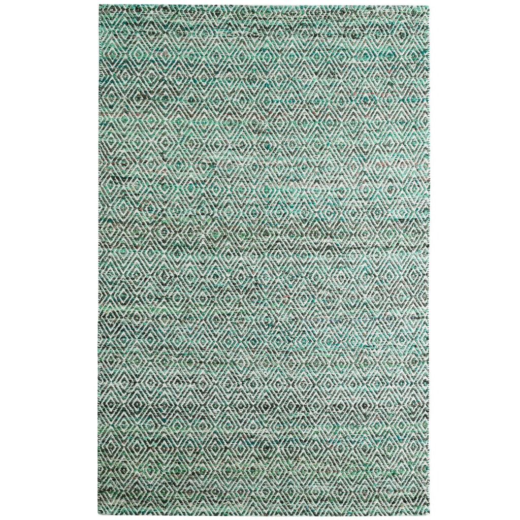 Maeva Stylish Diamond Pattern Area Rug Jungle Green iCustomRug