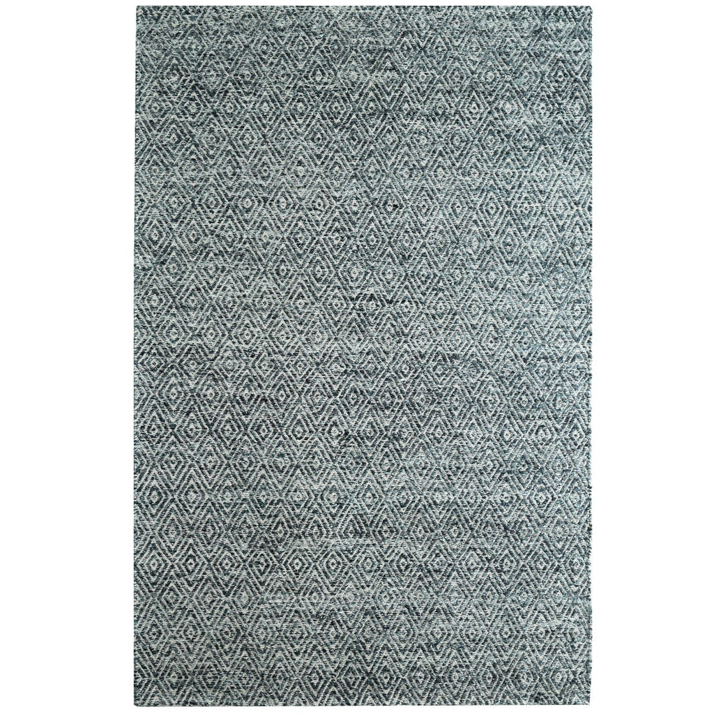 Maeva Stylish Diamond Pattern Area Rug Midnight Grey iCustomRug