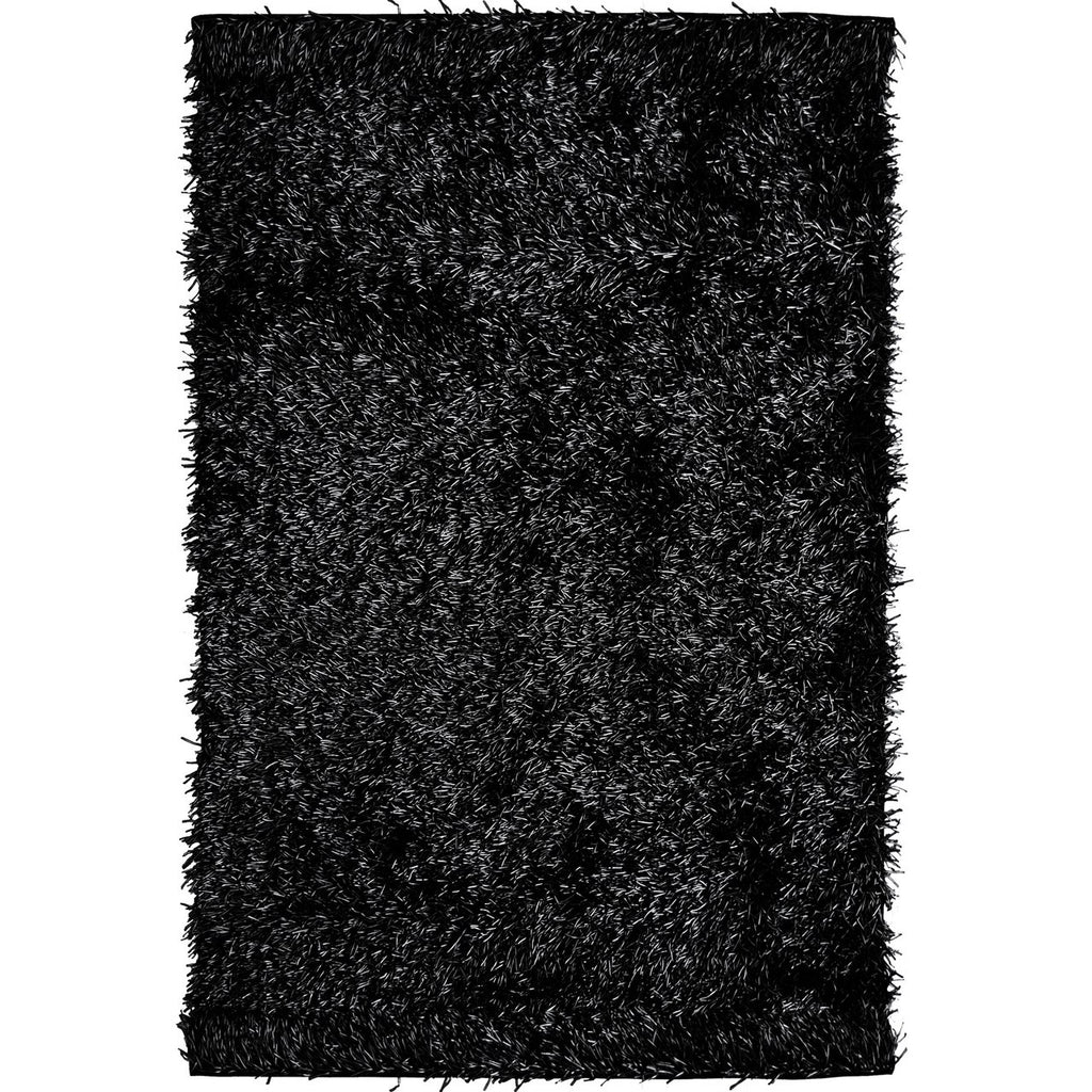 Fiesta Super Soft Bright and Comfortable Shag Black iCustomRug